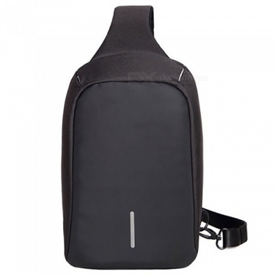 """DTBG M003 Fashionable Waterproof Anti-theft Chest Bag for 7.9"""" IPAD, Suitable for Women and Men - Black"""