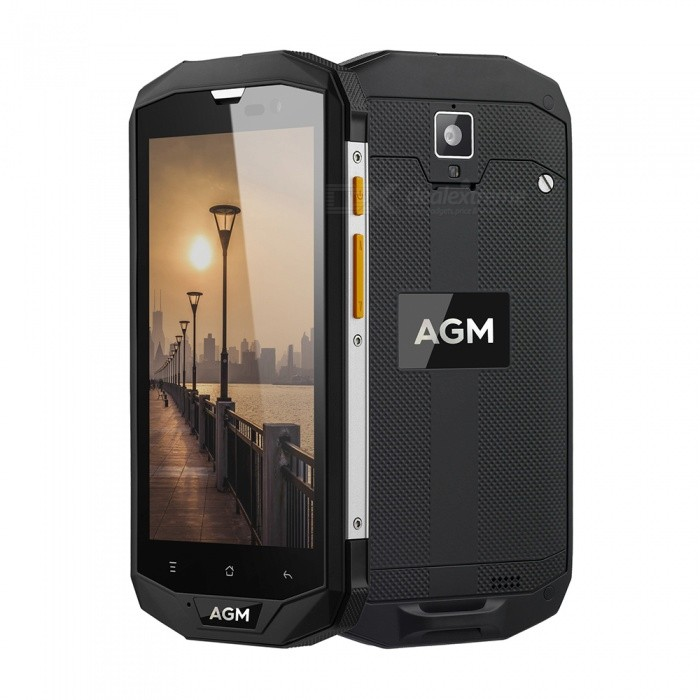 AGM A8 Android 7.0 4G Phone with 3GB RAM, 32GB ROM, 4050mAh Large Battery, EU Plug - Black