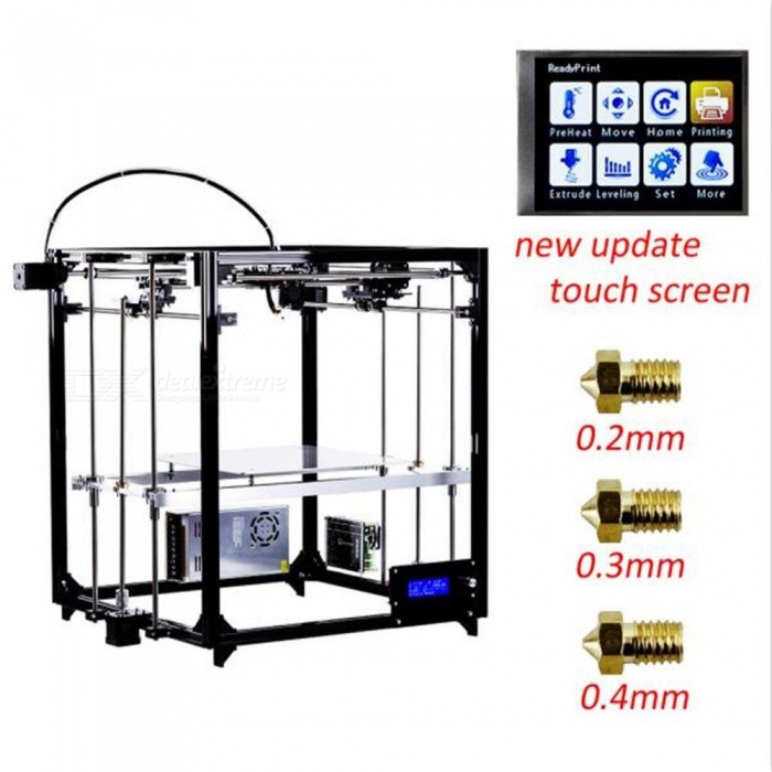 FLSUN Cube 3D Printer DIY Kit Touch Screen Auto Leveling Printing Size 260X260X350 - EU3D Printers, 3D Printer Kits<br>ColorBlackPower AdapterEUBundlesAdd Touch ScreenModelFQuantity1 DX.PCM.Model.AttributeModel.UnitMaterialFEPacking List1 x 3D Printer DIY Kit<br>