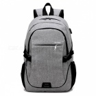 Ctsmart-YZ531-Waterproof-Anti-Theft-Backpack-with-USB-Charging-Port-for-Outdoor-Cycling-Mountaineering-Hiking-Gray