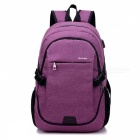 Ctsmart-YZ531-Waterproof-Anti-Theft-Backpack-with-USB-Charging-Port-for-Outdoor-Cycling-Mountaineering-Hiking-Purple