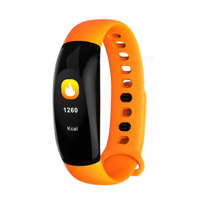 Eastor U8 Plus IP67 Waterproof Color LED Bluetooth Smart Band Bracelet w/ Heart Rate, Blood Pressure Monitor - OrangeSmart Bracelets<br>ColorOrangeModelU8 PLUSQuantity1 DX.PCM.Model.AttributeModel.UnitMaterialTPUShade Of ColorOrangeWater-proofIP67Bluetooth VersionBluetooth V4.0Touch Screen TypeYesOperating SystemNoCompatible OSIOS 8.0 and above and Android 4.4 and above.Battery Capacity110 DX.PCM.Model.AttributeModel.UnitBattery TypeLi-polymer batteryStandby Time8 DX.PCM.Model.AttributeModel.UnitPacking List1 x Smart band<br>