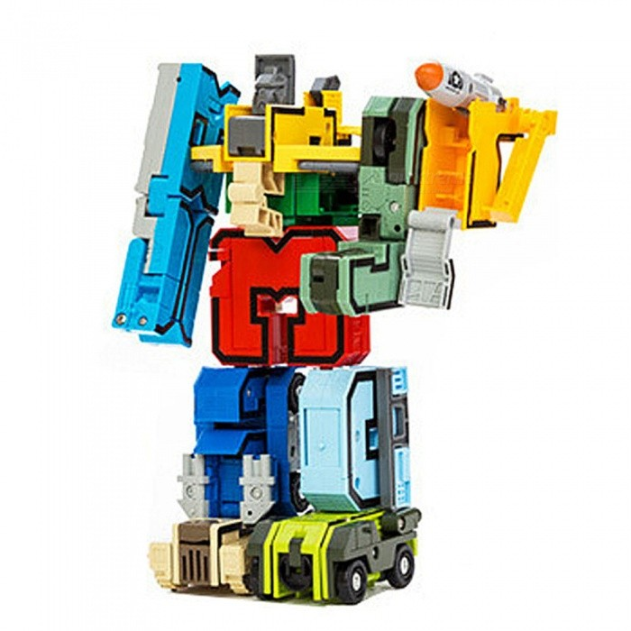 Transformers Model Assembled Building Blocks Science and Education Toy for KidsEducational Toys<br>ColorMulti-ColorMaterialABS + metalQuantity1 DX.PCM.Model.AttributeModel.UnitSuitable Age 5-7 years,8-11 years,12-15 yearsPacking List10 x Numbers5 x Symbols<br>
