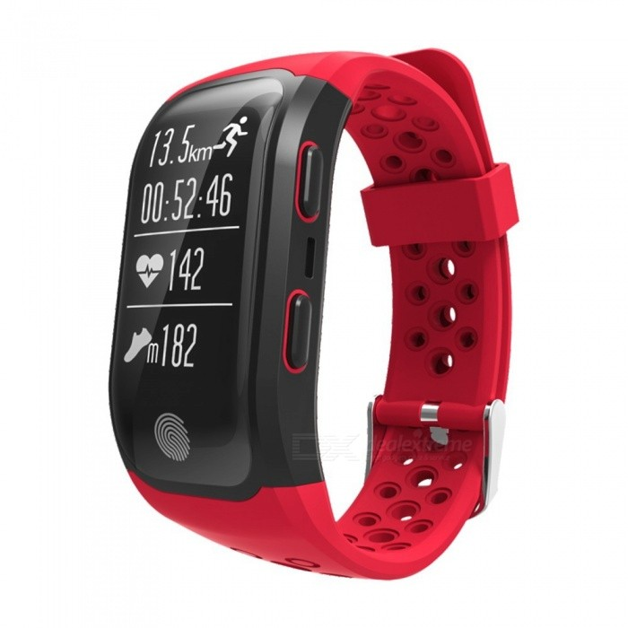 Eastor S908 Bluetooth Smart Band Bracelet w/ GPS, Heart Rate, Sleep Monitor, Pedometer, Fitness Tracker for Android IOS - RedSmart Bracelets<br>ColorRedModelS908Quantity1 DX.PCM.Model.AttributeModel.UnitMaterialABSWater-proofIP68Bluetooth VersionBluetooth V4.0Touch Screen TypeYesOperating SystemNoCompatible OSAndroid IOSBattery Capacity230 DX.PCM.Model.AttributeModel.UnitBattery TypeLi-polymer batteryStandby Time120 DX.PCM.Model.AttributeModel.UnitPacking List1 x Smart band1 x Cable<br>