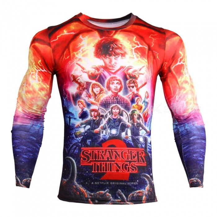 Buy CTSmart TD135 Novelty Story Men's Fashion 3D Animation Long Sleeve Compression Tee T-Shirt - Red (XL) with Litecoins with Free Shipping on Gipsybee.com