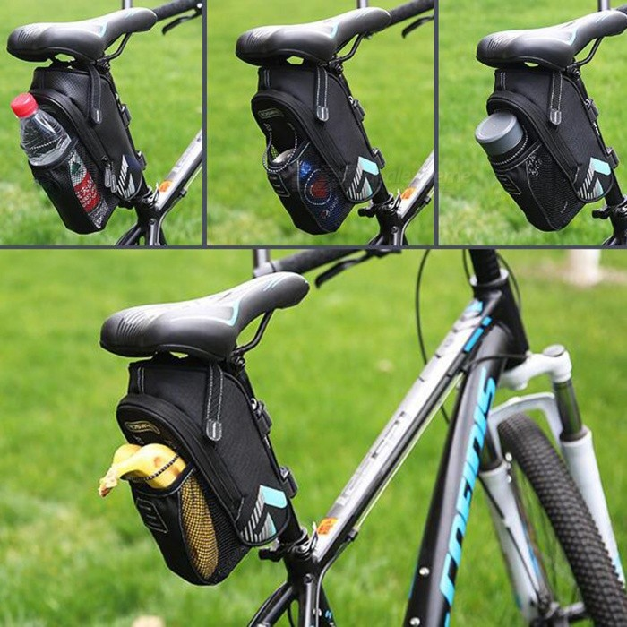 8e99d9beb8e ROSWHEEL 131395 Bike Bicycle Riding Safety Reflective Kettle Water Bottle  Holder Tail Bag - Light Blue