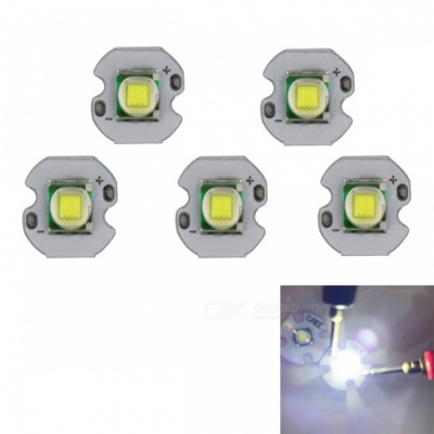 JRLED Super Bright 12mm PCB 10W Cold White 5050SMD LED Bead, DC3-3.5V (5 PCS)