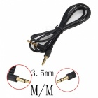 3.5mm Male to 3.5mm Male Audio Cable - Black (95cm)