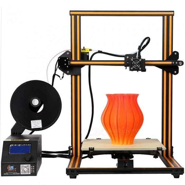 Creality3D CR-10 DIY Lage Size 3D Printer Kit - Orange (US Plug)