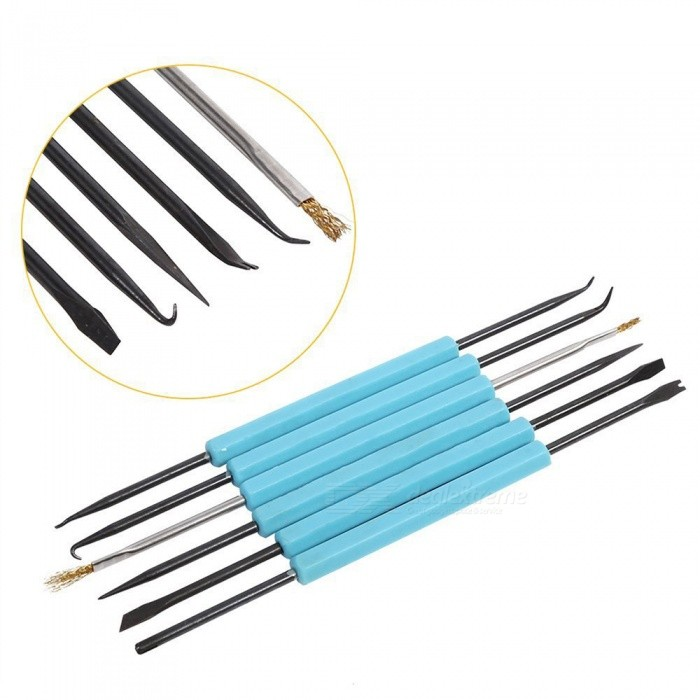 Buy YENISEI Double Sided Solder Assist Disassembly Tools, Professional Circuit Board Repair Tool Kit (6 PCS) with Litecoins with Free Shipping on Gipsybee.com