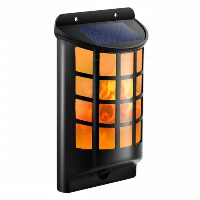 P-TOP Outdoor Solar Powered LED Flame Wall Lawn Lamp, Decorative Torches Landscape Courtyard Light