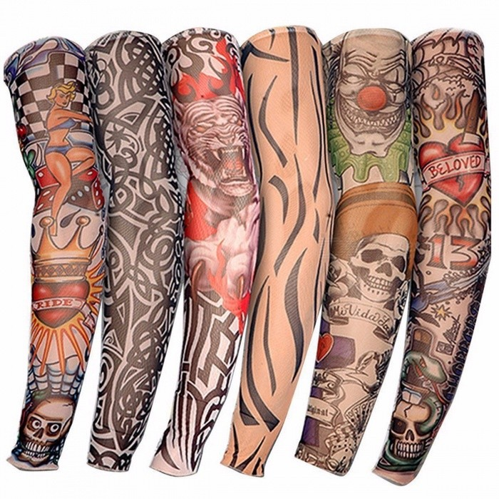 Cool Nylon Elastic Fake Temporary Tattoo Sleeve Designs Body Arm Stockings Tatoo for Men Women - 6PCS 6 pcs Tattoo Sleeves for sale in Bitcoin, Litecoin, Ethereum, Bitcoin Cash with the best price and Free Shipping on Gipsybee.com
