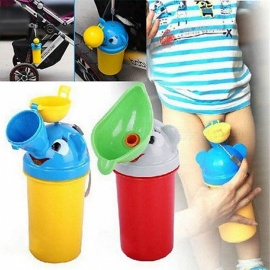Portable Creative Convenient Travel Cute Baby Urinal Kids Potty Boy Car Toilet Vehicular Urinal Traveling Urination Tool for boys