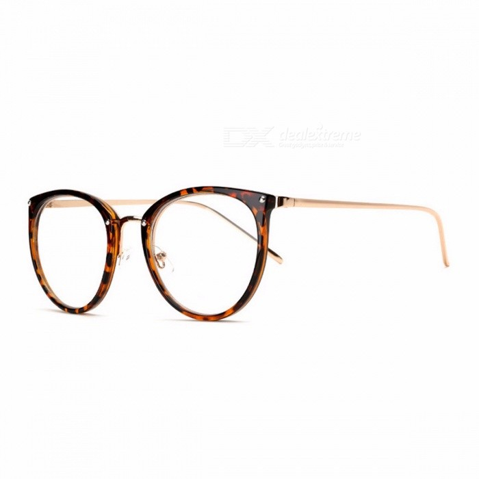 Buy Stylish Vintage High Quality Transparent Clear Glasses Eyeglasses with Carrying Pouch for Women Girls leopard Print with Litecoins with Free Shipping on Gipsybee.com