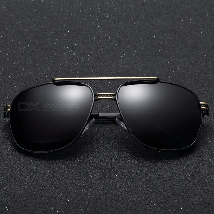 Buy ROUPAI Cool Men's Retro Polarized Sunglasses, Luxury Brand Designer Mirror Coating Sun Glasses, Male Driving Sunglass 04 with Litecoins with Free Shipping on Gipsybee.com