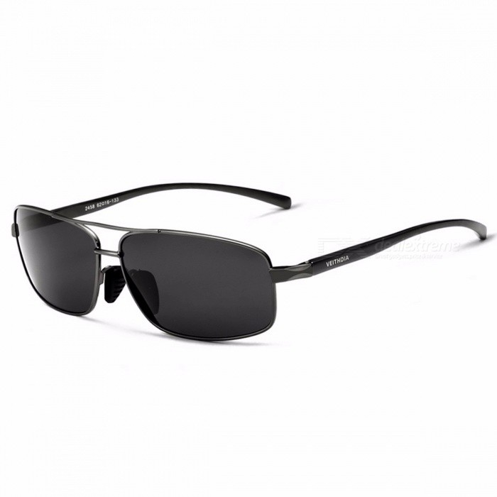 Buy VEITHDIA Stylish Polarized Sunglasses Aluminum Sun Glasses Eyewear Cool Fashionable Accessories for Men Black with Litecoins with Free Shipping on Gipsybee.com