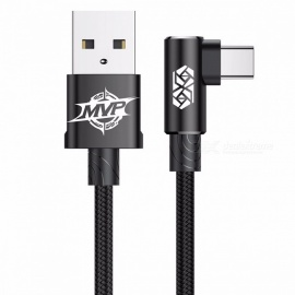 Baseus-MVP-Elbow-USB31-Type-C-Cable-2A-USB-C-Charger-Fast-Data-Sync-Charging-Type-C-Cable-2mBlack