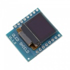 "Produino D1 Mini 0.66"" OLED Shield Module with I2C/IIC 64x48 Pixels 3.3V for Arduino"