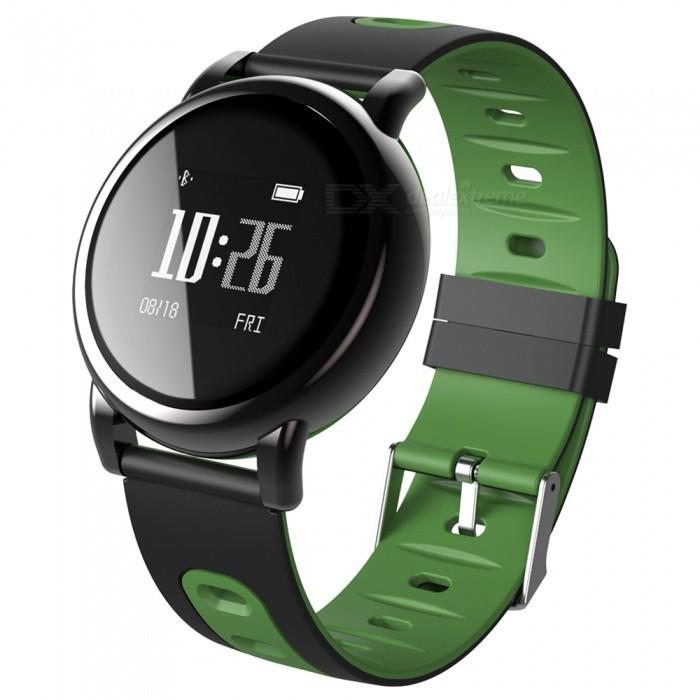 B8 Fitness IP67 Smart Bracelet Watch with Blood Pressure Heart Rate Monitoring for IOS Android Phone - Dark GreenSmart Bracelets<br>ColorDark GreenModelB8Quantity1 DX.PCM.Model.AttributeModel.UnitMaterialTPUShade Of ColorBlackWater-proofYesBluetooth VersionBluetooth V4.0Touch Screen TypeYesOperating SystemNoCompatible OSAndroid system 4.4 &amp; iOS system 8.0 or aboveBattery Capacity80 DX.PCM.Model.AttributeModel.UnitBattery TypeLi-polymer batteryStandby Time4-7 DX.PCM.Model.AttributeModel.UnitPacking List1 x B8 Smart Band1 x Charging Cable<br>