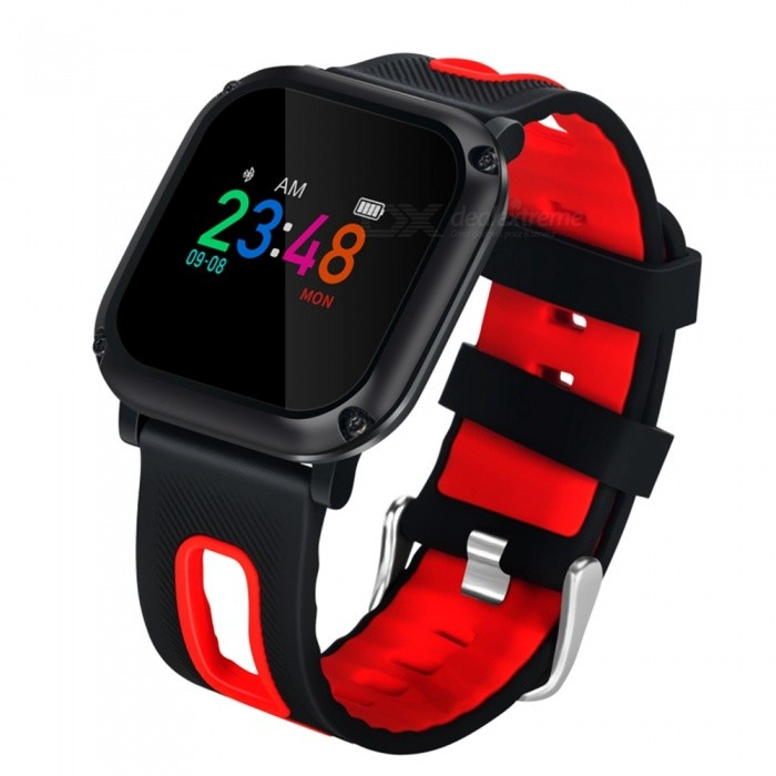 DB09 Sports IP68 Waterproof Smart Bracelet Watch with Pedometer, Heart Rate Blood Pressure Monitoring - RedSmart Bracelets<br>ColorRedModelDB09Quantity1 DX.PCM.Model.AttributeModel.UnitMaterialABSShade Of ColorBlackWater-proofIP68Bluetooth VersionBluetooth V4.0Touch Screen TypeYesCompatible OSSpecification        <br>ChipsetNRF51822QFAA BLE4.0<br>RAM32KB     <br>ROM256KB<br>SensorTriaxial Gravity Sensor <br>Hardware ParameterSingle core<br>Software ParameterOSAL<br>LanguagesChinese, English<br>OSAndroid4.4 or higheriOS 7.0 or higher<br>LCD0.95 Color scerrn OLED<br>LCD Pixels0.95 96*64<br>BT Version4.0<br>BT Connection Distance8-12m<br>Battery capacity90mAh<br>Standby Time7 days<br>Charging Electric Current80mA<br><br>Charging Type    Touching Point ChargingClip Charger<br>Average Working Current6mAh<br>Average Standby CurrentLess than 40uA 40uA<br>Working Voltage3.7V<br>Working Temperature-20~70<br>Woriking Humidity5%~95% non-congealable<br>Dimension39.9*38.9.2*164~232mm<br>ColorsRed and black, Green and black<br>MaterialMain Body<br>Net Weight52g<br>Waterproof GradeIPX68<br>CertificationsCE Rohs<br><br><br>function<br>Time Display; Date Display; Steps Display; Distance Display<br>Calorie Consuming Display, Blood pressure test.Calling Reminder, Message Reminder<br>Sitting Alert, Sleeping Monitoring, Bluetooth Connect<br>Battery-charging Protection, Heart Rate MonitoringBattery Capacity90 DX.PCM.Model.AttributeModel.UnitBattery TypeLi-polymer batteryStandby Time5-7 DX.PCM.Model.AttributeModel.UnitPacking List1 x Smart Band1 x Charging cable1 x User manual<br>