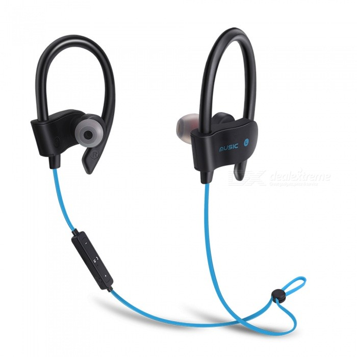 56S Sports Wireless Bluetooth Ear Hook Style In-Ear Earphones Sweatproof Stereo Earbuds Headset with Mic for Smartphone - BlueHeadphones<br>ColorBlueBrandOthers,EastorModel56SMaterialABSQuantity1 DX.PCM.Model.AttributeModel.UnitConnectionBluetoothBluetooth VersionBluetooth V4.1Bluetooth ChipCSROperating Range10MConnects Two Phones SimultaneouslyYesCable Length55 DX.PCM.Model.AttributeModel.UnitLeft &amp; Right Cables TypeEqual LengthHeadphone StyleIn-Ear,NeckbandWaterproof LevelIPX2Applicable ProductsUniversalHeadphone FeaturesEnglish Voice Prompts,Long Time Standby,Noise-Canceling,Volume Control,With Microphone,Lightweight,Portable,For Sports &amp; ExerciseRadio TunerNoSupport Memory CardNoSupport Apt-XNoBattery TypeLi-polymer batteryBuilt-in Battery Capacity 20 DX.PCM.Model.AttributeModel.UnitStandby Time200 DX.PCM.Model.AttributeModel.UnitTalk Time6 DX.PCM.Model.AttributeModel.UnitMusic Play Time4-5 DX.PCM.Model.AttributeModel.UnitPower AdapterUSBPower Supply5V 1APacking List1 x Bluetooth Earphone1 x USB Cable<br>