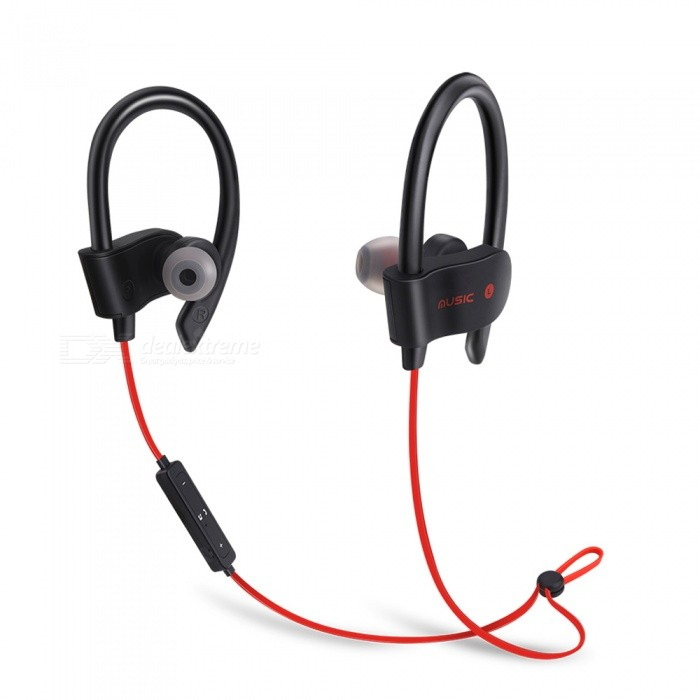 1a9e5eb1d56 56S Sports Wireless Bluetooth Ear Hook Style In-Ear Earphones Sweatproof Stereo  Earbuds Headset with Mic for Smartphone - Red