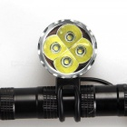 AIBBER TONE 4 x CREE XML T6 LED Bike Bicycle Light / LED Headlight Headlamp with 6400mAh Rechargeable Battery Pack