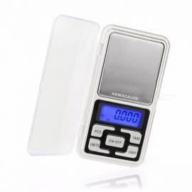 NEWACALOX Mini Precision 0.01g 200g Digital Scales for Gold Bijoux Sterling Silver Scale Jewelry Electronic Scale gray