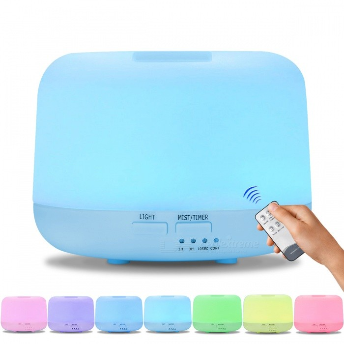 300ML Remote Control Ultrasonic Air Aroma Humidifier With 7 Color Lights Electric Aromatherapy Essential Oil Aroma Diffuser US