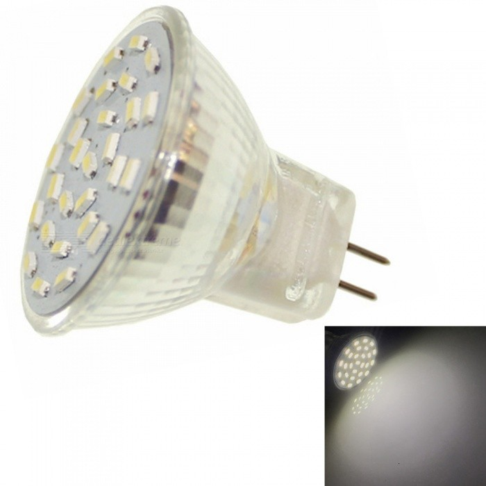 Sencart 2W MR11 27-LED SMD3014 180-200lm Cold White 6000K Decorative Light Bulb, DC/AC 12VOther Connector Bulbs<br>ColorCold White LightModelMR11MaterialABSForm  ColorSilver + WhiteQuantity1 DX.PCM.Model.AttributeModel.UnitPower2WRated VoltageOthers,DC/AC 12 DX.PCM.Model.AttributeModel.UnitConnector TypeMR11Chip Type3014 SMDEmitter TypeLEDTotal Emitters27Actual Lumens180-200 DX.PCM.Model.AttributeModel.UnitColor Temperature6000KDimmableNoBeam Angle180 DX.PCM.Model.AttributeModel.UnitPacking List1 x MR11 LED Bulb<br>