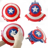 Captain America Pattern Crystal Bomb Bullet Electric Water Shot Gun Toy for Kids