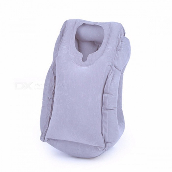 50*35cm-Inflatable-Travel-Pillow-Airplane-Neck-Chin-Head-Support-Innovative-Travel-Sleeping-Pillow-Train-Cushion-50x35cmGray