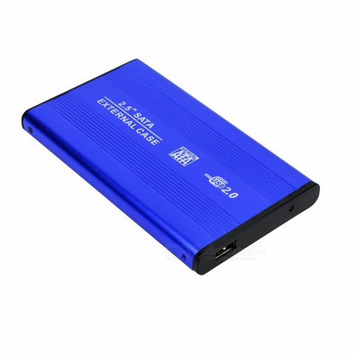 Buy Deepfox Aluminum Metal External HDD Caddy, 2.5 Inches SATA External Case, USB 2.0 HDD Hard Drive Enclosure blue with Litecoins with Free Shipping on Gipsybee.com