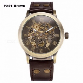 Men s Semi-Automatic Mechanical Skeleton Watch - Black + Gold - Free ... 72fb6c8f3a
