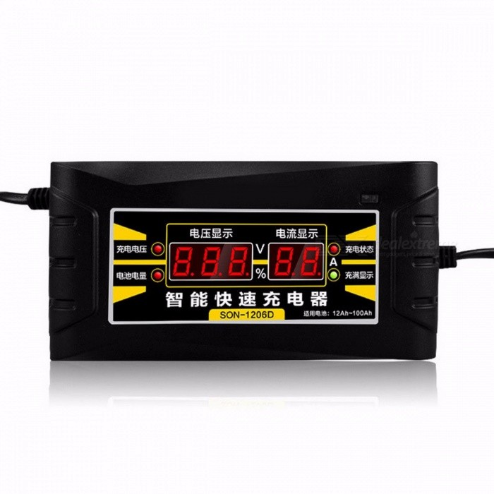 Choifoo 12V 6A Electric Automatic Pulse Repair Type Smart Fast Car Motorcycle Battery Charger with LED Display  US