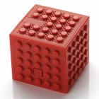 Creative-Building-Block-Style-Toy-Bluetooth-Speaker-Red