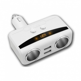 1-to-2-Car-Cigarette-Lighter-Socket-Charger-with-Dual-USB-Ports-Digital-Display