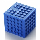 Creative-Building-Block-Style-Toy-Bluetooth-Speaker-Blue