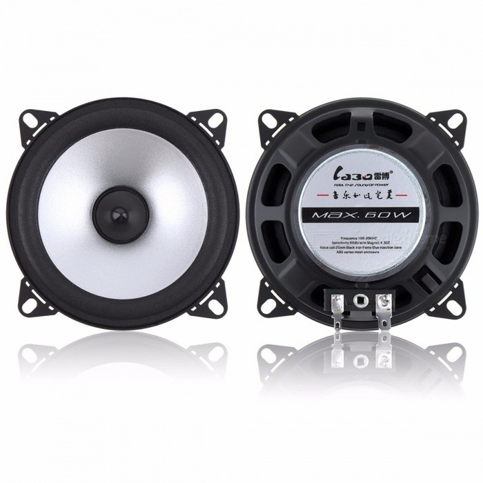 LaBo 4 Inches 60W 2-Way Car Coaxial Hifi Speaker Vehicle Door Auto Audio Music Stereo Full Range Frequency Loudspeaker 2PCS