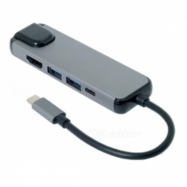 CY-UC-058-USB-31-Type-C-USB-C-to-HDMI-and-Dual-Port-30-Hub-w-Ethernet-and-Power-Port-for-PC-Laptop-Macbook