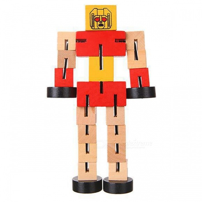 Wooden Transformation Robot Car Building Blocks Educational Toy Gift for Kids - RedEducational Toys<br>ColorRedMaterialWoodQuantity1 DX.PCM.Model.AttributeModel.UnitSuitable Age 8-11 years,12-15 years,Grown upsPacking List1 x Toy<br>