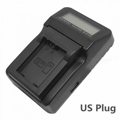 110-240V NP-FW50 Battery Charger with LCD Screen / USB for A7R NEX6 7 5N R A5000 A5100 A6000 - US Plug
