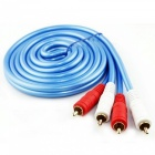 ZHAOYAO-Gold-Plated-Double-Lotus-Head-Connector-RCA-Audio-Cable-(500cm)