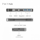 CY UC-049 Thunderbolt3 USB-C USB 3.1 to Displayport VGA HDMI USB HUB & Dual Type-C Female Power Adapter for Laptop