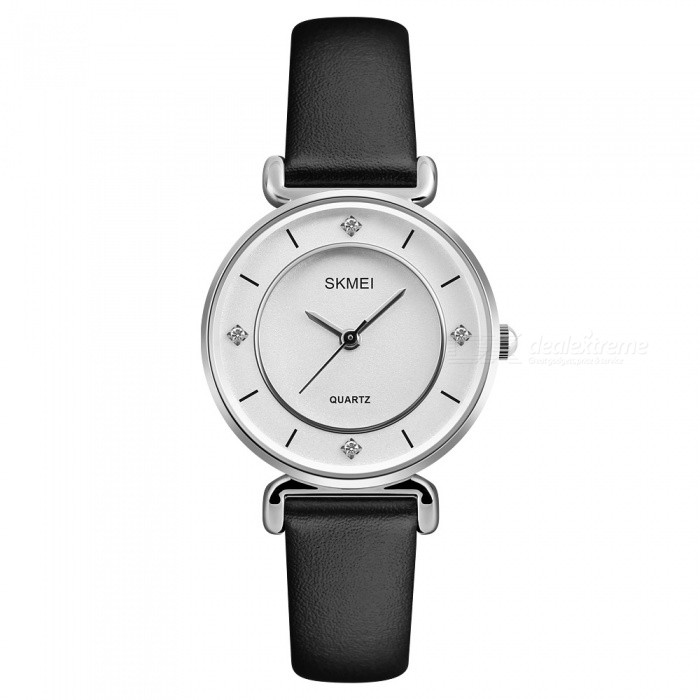 SKMEI 1330 30m Waterproof Leather Band Womens Quartz Watch - SilverWomens Dress Watches<br>ColorSilverModel1330Quantity1 DX.PCM.Model.AttributeModel.UnitShade Of ColorSilverCasing MaterialZINC AlloyWristband MaterialLeatherGenderWomenSuitable forAdultsStyleWrist WatchTypeFashion watchesDisplayAnalogMovementQuartzDisplay Format12 hour formatWater ResistantWater Resistant 3 ATM or 30 m. Suitable for everyday use. Splash/rain resistant. Not suitable for showering, bathing, swimming, snorkelling, water related work and fishing.Dial Diameter3.6 DX.PCM.Model.AttributeModel.UnitDial Thickness0.9 DX.PCM.Model.AttributeModel.UnitBand Width1.2 DX.PCM.Model.AttributeModel.UnitWristband Length22 DX.PCM.Model.AttributeModel.UnitBattery1 x SR626SWPacking List1 x SKMEI 1330 Watch<br>
