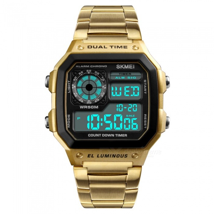 75a15212bc1 SKMEI 1335 50m Waterproof Stainless Steel Case and Band