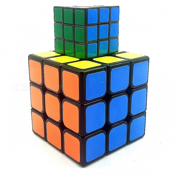 Mini Portable 3x3x3 Magic Rubik's Cube for Leisure and Entertainment (2 PCS)
