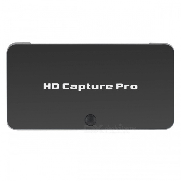 EZCAP 295 1080P HD 1080P HDMI Video Capture Support HDCP / IR / Playback Mode and More - BlackAV Adapters And Converters<br>ColorBlackModelEZCAP295MaterialABSQuantity1 DX.PCM.Model.AttributeModel.UnitConnectorUSB,HDMI,3.5mmPower AdapterUS PlugPower SupplyInput100-240V 50/60Hz<br>Output5V-2000mAPacking List1 x HD capture1 x IR Remote control1 x USB cable1 x AV/YPBPR Cable1 x US Plug1 x CD 1 x English and Chinese Manual<br>