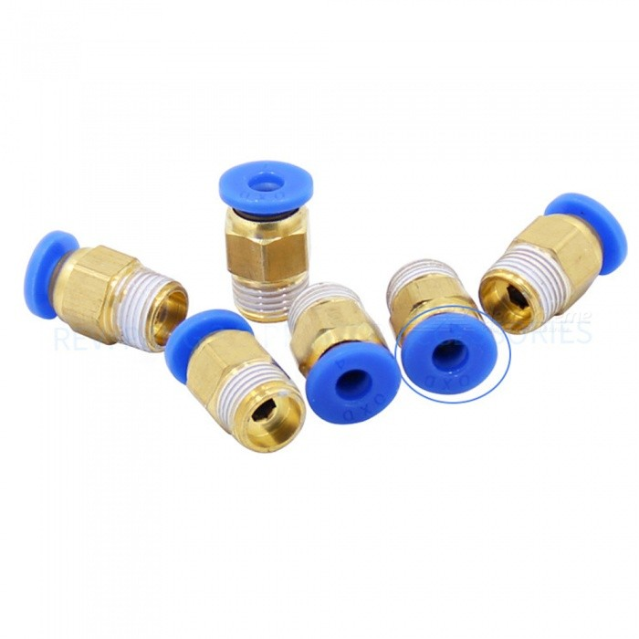 ZHAOYAO Pneumatic Quick Plug Hot End Brass 1.75mm Inlet Connector for 3D Printer (6 PCS)3D Printer Parts<br>Size1.75mmModelPC4Quantity1 DX.PCM.Model.AttributeModel.UnitMaterialBrassPacking List6 x Connectors<br>