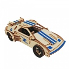 DIY Sports Car Style 3D Wooden Three-Dimensional Puzzle Educational Toy